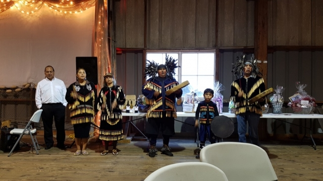 Coastal Wolf Pack cultural performance