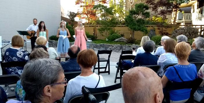 Beauty Shop Dolls perform at the Garden Dinner Party in August