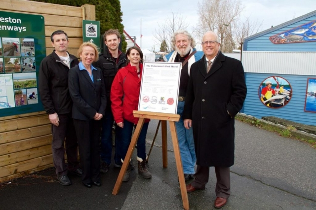Representatives from the City of Richmond, Steveston Harbour Authority, Gulf of Georgia Cannery, and the Steveston Historical Society