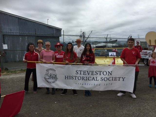 SHS volunteers at the Steveston Salmon Festival Parade