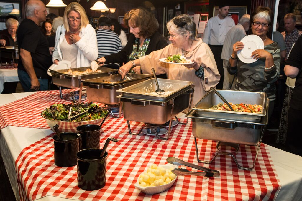 Buffet dinner at the Pub Fundraiser