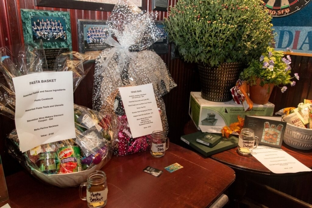 Draw prizes at the SHS Pub Fundraiser