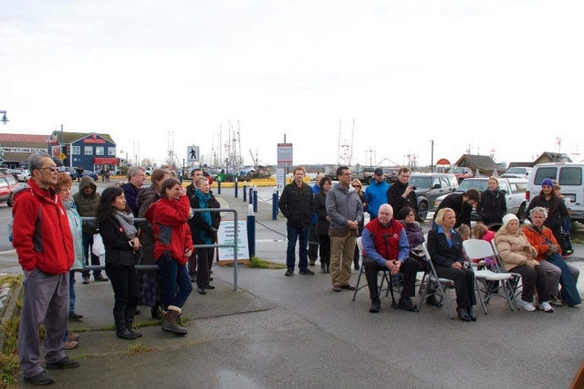 Crowd came to watch the unveiling of the new Mural